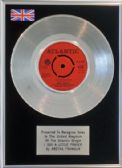 "ARETHA FRANKLIN-7"" Platinum Disc-I SAY A LITTLE PRAYER"